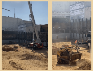 Project timeline: Project started Construction - grading and shoring