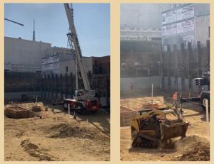 Lịch trình dự án: Dự án bắt đầu thi công - san lấp và cắm cọc
